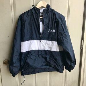 Charles River Alpha Delta Pi Raincoat Size small